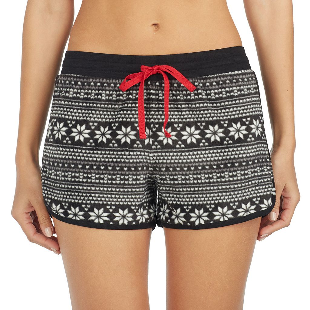 Women's Cuddl Duds Pajamas: 2-pack Print Boxer Shorts Set