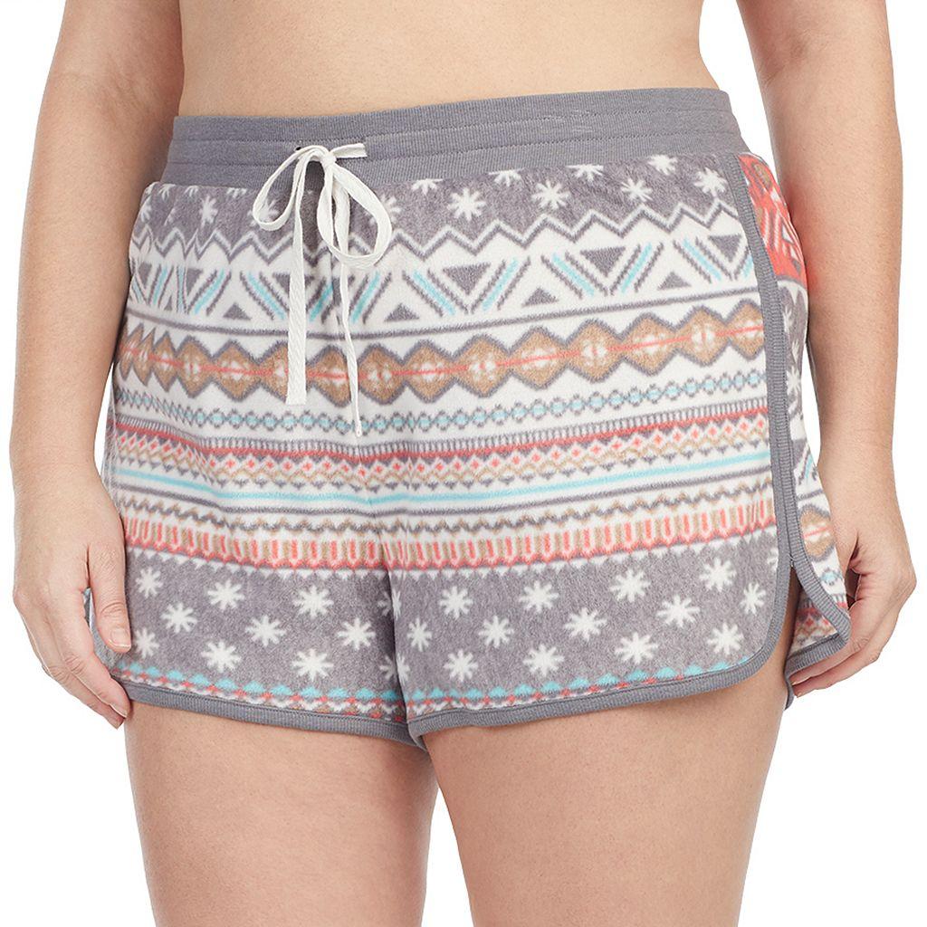 Plus Size Cuddl Duds Pajamas: Under the Mistletoe 2-pack Boxer Shorts Set