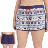 Plus Size Cuddl Duds Pajamas: Under the Mistletoe 2-pack Boxer Shorts Set