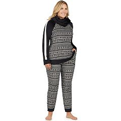 Plus Size Cuddl Duds Pajamas: Wake Up Call Top, Jogger Pants & Scarf 3-Piece PJ Set