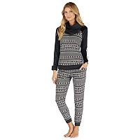 Petite Cuddl Duds Pajamas: Wake Up Call Top, Jogger Pants & Scarf 3-Piece PJ Set