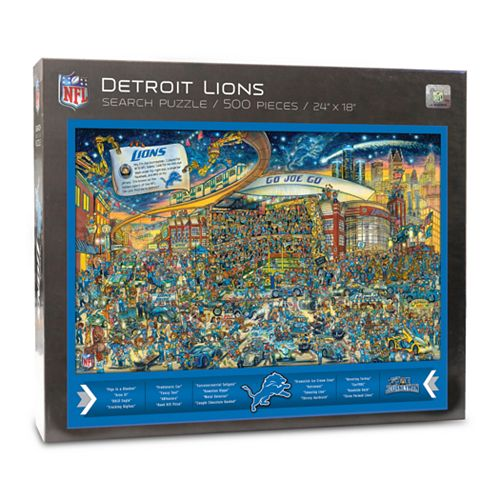 Detroit Lions Find Joe Journeyman Search Puzzle
