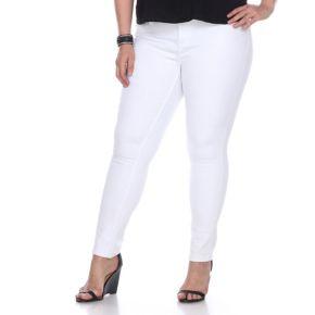 Plus Size White Mark Skinny White Denim Jeans