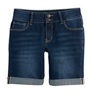 Girls 7-16 & Plus Size Mudd® Denim Bermuda Shorts