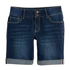 Girls 7-16 & Plus Size Mudd® Denim Bermuda Shorts