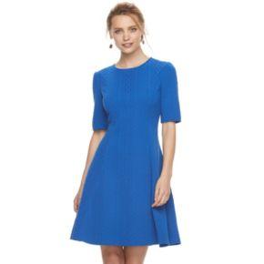 Women's Suite 7 Cable Stripe Dress