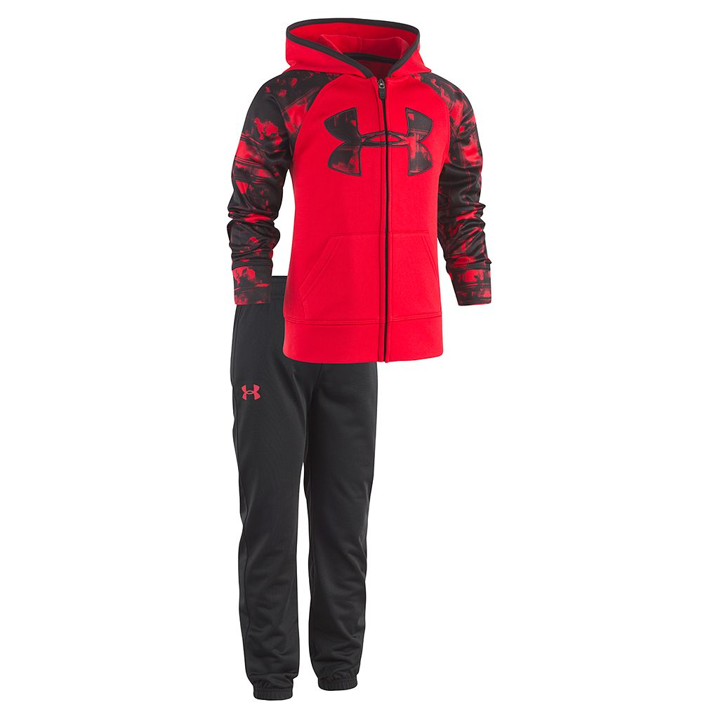 Boys 4-7 Under Armour Abstract Sleeves Logo Pullover Hoodie & Pants Set