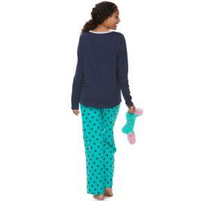 Juniors' SO® Pajamas: Knit Pants, Top & Eye Mask 3-Piece PJ Set