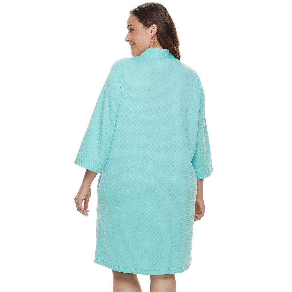 Plus Size Croft & Barrow® Quilted Zip-Up Duster Robe