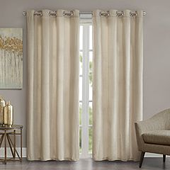 Madison Park Chenille Velvet Window Curtain