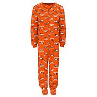 Juniors' Denver Broncos One-Piece Fleece Pajamas