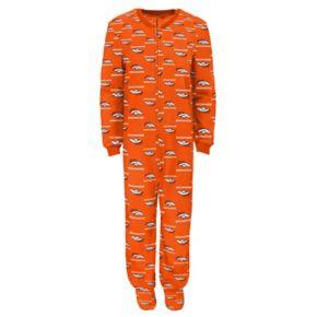 Juniors' Denver Broncos One-Piece Fleece Pajamas