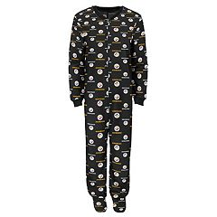 Juniors' Pittsburgh Steelers One-Piece Fleece Pajamas