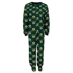 Juniors' Green Bay Packers One-Piece Fleece Pajamas