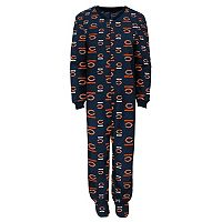Juniors' Chicago Bears One-Piece Fleece Pajamas