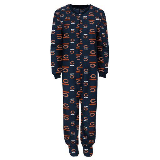 Juniors' Chicago Bears One-Piece Fleece Pajamas
