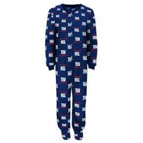 Juniors' New York Giants One-Piece Fleece Pajamas