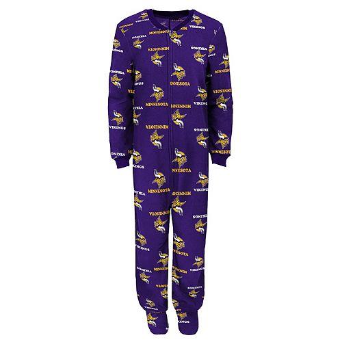 Juniors  Minnesota Vikings One-Piece Fleece Pajamas 55a0d84ae