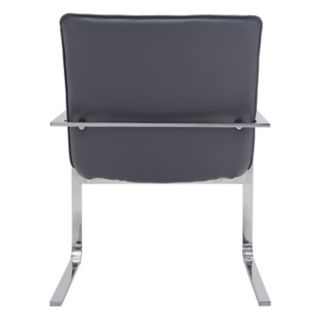 Zuo Modern Solo Upholstered Faux-Leather Accent Chair
