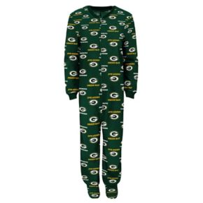 Baby Green Bay Packers One-Piece Fleece Pajamas