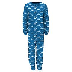 Baby Detroit Lions One-Piece Fleece Pajamas