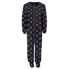Baby Chicago Bears One-Piece Fleece Pajamas