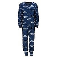 Baby Seattle Seahawks One-Piece Fleece Pajamas