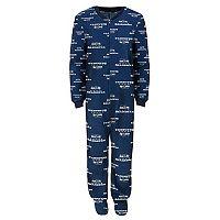 Baby Seattle Seahawks One-Piece Fleece Pajamas