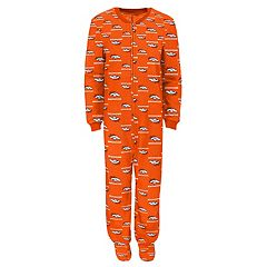 Baby Denver Broncos One-Piece Fleece Pajamas