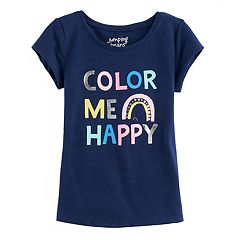 Toddler Girl Jumping Beans® 'Color Me Happy' Foil Graphic Tee