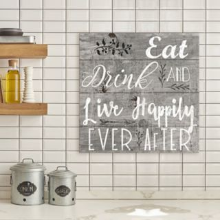 "Artissimo Designs ""Happily Ever After"" Canvas Wall Art"
