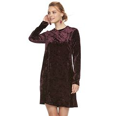 Women's Suite 7 Velvet Long Sleeve Shift Dress