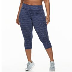 Plus Size Tek Gear® Space-Dye Performance Capri Leggings