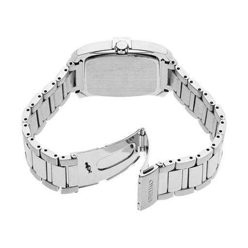 Seiko Men's Core Diamond Stainless Steel Solar Watch - SNE461