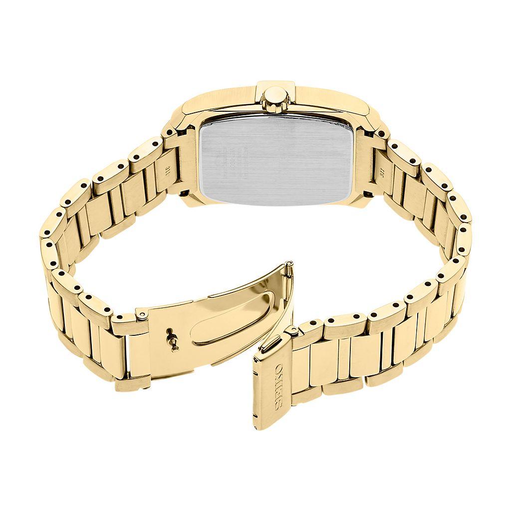 Seiko Men's Core Diamond Stainless Steel Solar Watch - SNE462
