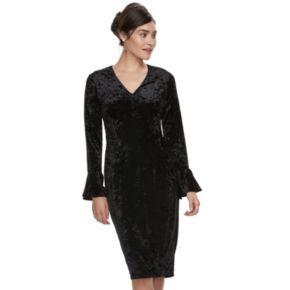Women's Suite 7 Velvet Sheath Dress