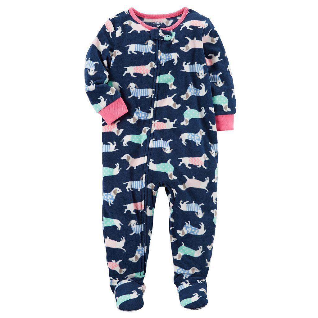 Baby Girl Carter's Fleece Sleep & Play