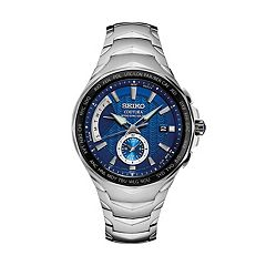Seiko Men's Coutura Stainless Steel Radio Sync Solar Watch  - SSG019