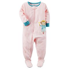 Baby Girl Carter's Animal Applique Fleece Sleep & Play