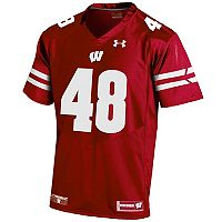 Men's Under Armour Wisconsin Badgers Replica Football Jersey