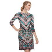 Women's Suite 7 Printed Chevron Shift Dress