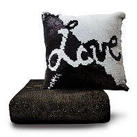 Posh Home Shimmer Throw & Sequin Pillow Set