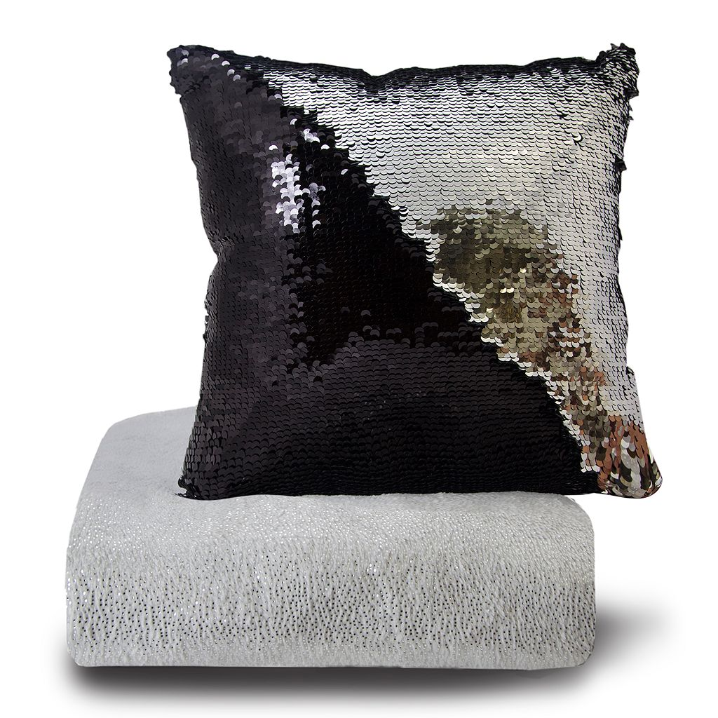 Posh Home Shimmer Throw & Sequin Pillow Set