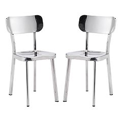 Zuo Modern Winter Stainless Steel Dining Chair 2 pc Set
