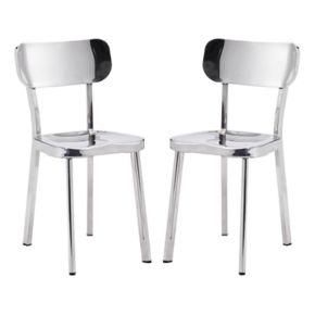 Zuo Modern Winter Stainless Steel Dining Chair 2-piece Set