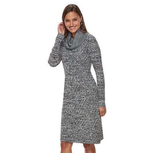 Women's Dana Buchman Mitered Cowlneck Sweater Dress