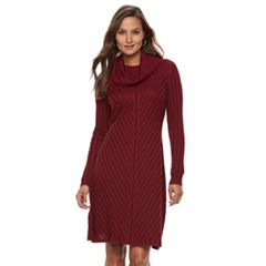 Women's Dana Buchman Mitered Cowlneck Sweater Dress