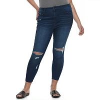 Juniors' Plus Size SO® High-Rise Ankle Jeggings