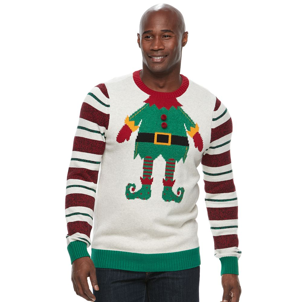 big tall method elf ugly christmas sweater - Big And Tall Christmas Sweaters