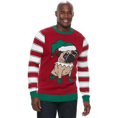 big tall method pug ugly christmas sweater